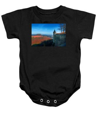 The Lilienstein Behind The Fortress Koenigstein Baby Onesie