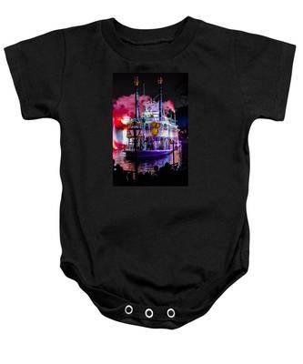 The Mark Twain Disneyland Steamboat  Baby Onesie