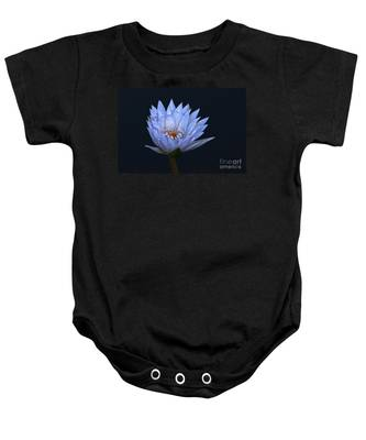 Water Lily Shades Of Blue And Lavender Baby Onesie