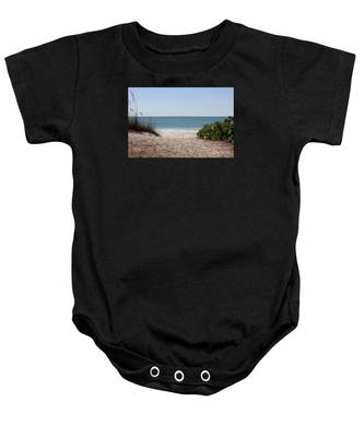 Welcome To The Beach Baby Onesie