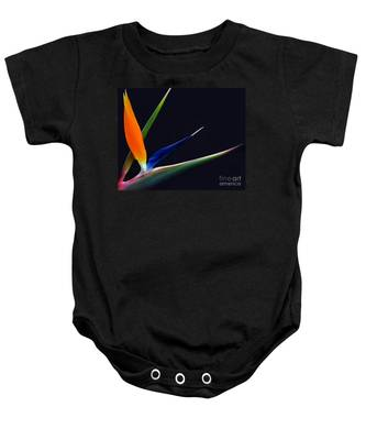 Bright Bird Of Paradise Rectangle Frame Baby Onesie