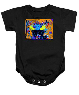 He Felt One With The Universe Baby Onesie