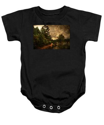 Textured Lake Baby Onesie