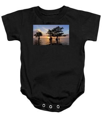 Blue Cypress Lake Morning Baby Onesie