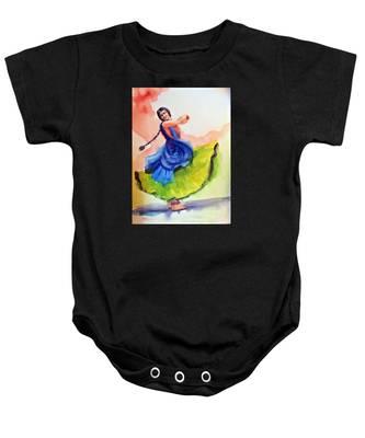 Kathak Dancer Baby Onesie