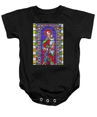 Saint Anne's Windows Baby Onesie