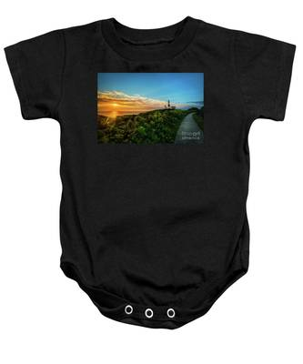 A Montauk Lighthouse Sunrise Baby Onesie
