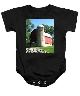 Back View Baby Onesie