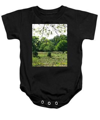 Bird Grounds Baby Onesie