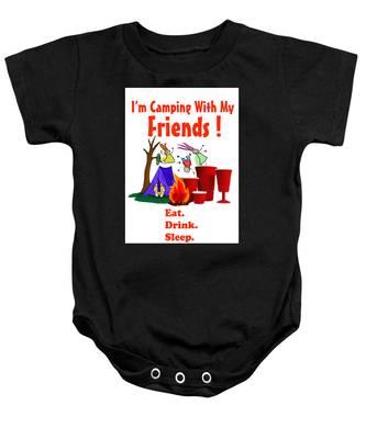 Camping T Shirt Baby Onesie
