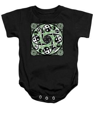 Celtic Spiral Stepping Stone Baby Onesie