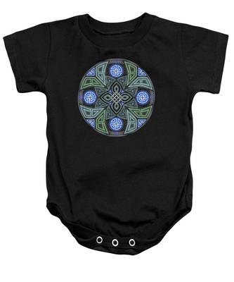 Celtic Ufo Mandala Baby Onesie