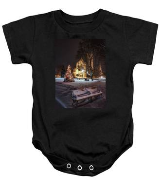 Church Of St Mary St Paul At Christmas Baby Onesie