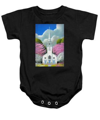 Church Of The Dogwoods Baby Onesie