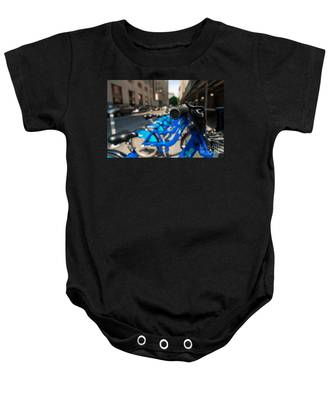 Citibike Handle Manhattan Color Baby Onesie