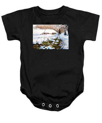 Clubhouse In Winter Baby Onesie