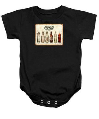 Coca-cola Bottle Evolution Vintage Sign Baby Onesie