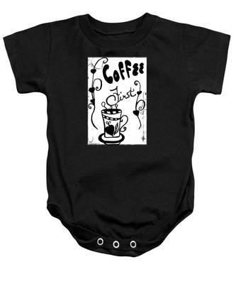 Coffee First Baby Onesie