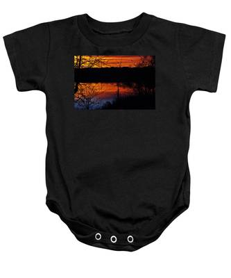 Fall Sunset Baby Onesie