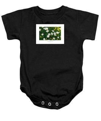 Field Of Daisies Baby Onesie