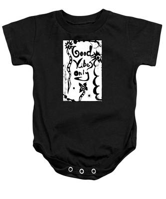Good Vibes Only Baby Onesie