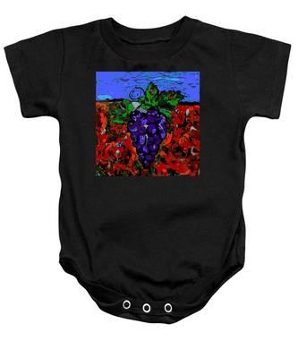 Grape Jazz Digital Baby Onesie