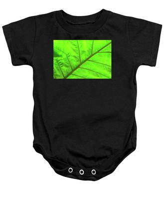 Green Abstract No. 5 Baby Onesie