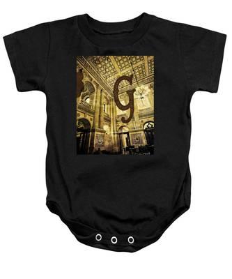 Grungy Melbourne Australia Alphabet Series Letter G Government P Baby Onesie