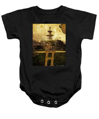 Grungy Melbourne Australia Alphabet Series Letter H Hochgurtel F Baby Onesie