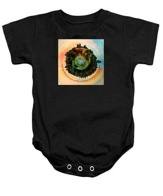 In Dreams A World Entirely Our Own Orb Baby Onesie