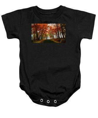 Inner Line Road At Valley Forge Baby Onesie