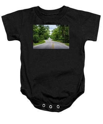 Jens Jensen's Winding Road Baby Onesie