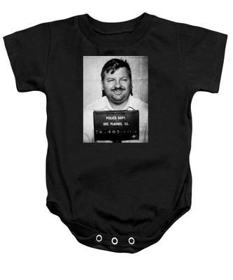 John Wayne Gacy Mug Shot 1980 Black And White Baby Onesie