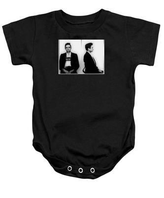 Johnny Cash Mug Shot Horizontal Baby Onesie
