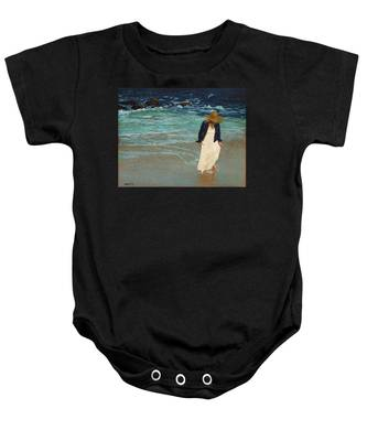 Leaving The Beach Baby Onesie