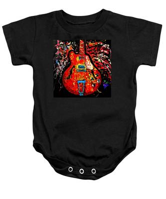 Modern Vintage Guitar Baby Onesie
