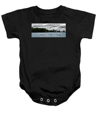 Moose Beach Point Baby Onesie