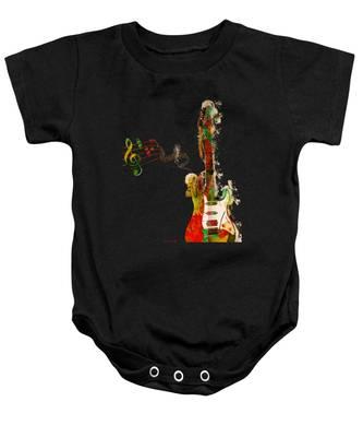 My Guitar Can Sing Baby Onesie