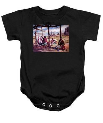 Navajo Weavers Baby Onesie