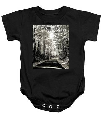 October Grayscale  Baby Onesie