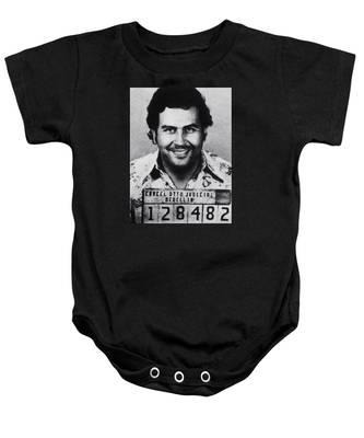 Pablo Escobar Mug Shot 1991 Vertical Baby Onesie