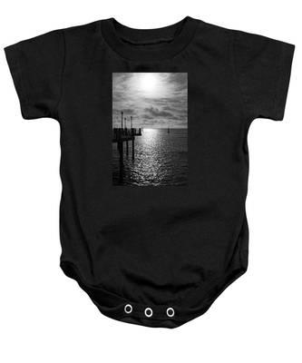 Pier Into The Sun Baby Onesie
