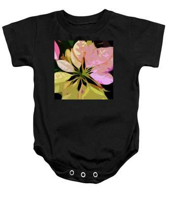 Poinsettia Tile Baby Onesie