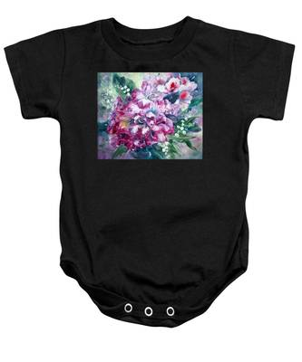 Rhododendron And Lily Of The Valley Baby Onesie