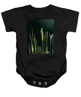 Sunlit Grasses Baby Onesie
