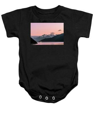 Sunset In Alaska Baby Onesie