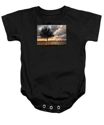 Sunset Tree Baby Onesie