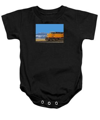Baby Onesie featuring the photograph Train In Oregon by Dart and Suze Humeston