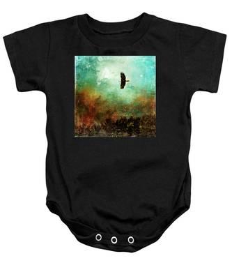 Treetop Eagle Flight Baby Onesie