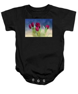 Tulips For Spring Baby Onesie